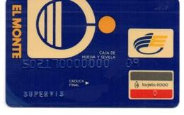 OLD ANCIENT Bank Spain Credit Card  EL MONTE - SUPERVISOR Visa   Electron - Master Card  Tarjeta De Credito - Cartes De Crédit (expiration Min. 10 Ans)