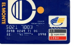 OLD ANCIENT Bank Spain Credit Card  EL MONTE Visa   Electron - Master Card  Tarjeta De Credito - Cartes De Crédit (expiration Min. 10 Ans)