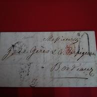 LETTRE SUISSE BERN POUR BORDEAUX 1854 - Lettres & Documents