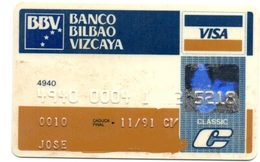OLD ANCIENT Bank Spain Credit Card  BBV BILBAO VIZCAYA Visa   Electron - Master Card  Tarjeta De Credito - Cartes De Crédit (expiration Min. 10 Ans)
