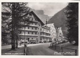 LAGO DIO BRAIES-BOZEN-BOLZANO-HOTEL=PRAGSER WILDSEE HOTEL=-CARTOLINA VERA FOTOGRAFIA- NON VIAGGIATA-ANNO 1950-1955 - Bolzano (Bozen)
