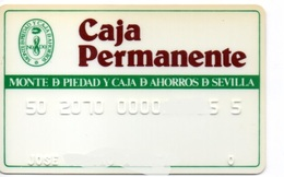 OLD ANCIENT Bank Spain Credit Card CAJA PERMANENTE Visa   Electron - Master Card  Tarjeta De Credito - Cartes De Crédit (expiration Min. 10 Ans)