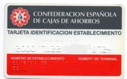 OLD ANCIENT Bank Spain Credit Card CAJAS DE AHORROS - STORE IDENTIFICATION  Visa - Master Card  Tarjeta De Credito - Cartes De Crédit (expiration Min. 10 Ans)