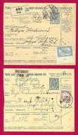 Deux Récépissés De Colis Postaux - Hongrie - Première Guerre Mondiale - Années 1915 Et 1918 - Paketmarken