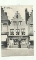 Brugge - Reclame Kaart Steenstraat - Winkel  ( 2 Scans) - Brugge