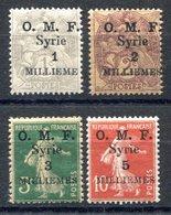 RC 17622 SYRIE COTE 12€ N° 25 / 28 SEMEUSE / BLANC SURCHARGÉS NEUF * MH TB - Syria (1919-1945)