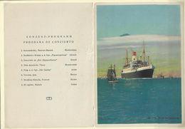 """Ancien MENU Avec Programme Concert De 1930 """" Transatlantique CAP ARCONA - Menus"""