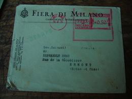 Italia 1934 Fiera Di Milano Ema Empreinte Machine Affranchir - Italië