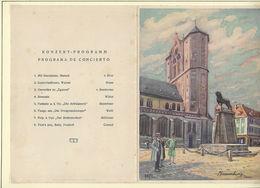"""Ancien MENU Avec Programme Concert De 1930 """" Transatlantique CAP ARCONA """" - Menus"""