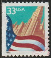 USA 1999 Scott 3279 Sello º Flag Over City Estados Unidos United States Yvert 2857a Michel 3091BMI Stamps Timbre États U - Vereinigte Staaten