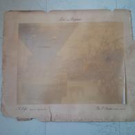 GRANDE PHOTO DE DURANDELLE PONT DE LA BAGOTAIE CONSTRUTEUR GUSTAVE EIFFEL ROC SAINT ANDRE MORBIHAN 1885 1886 RARE - Beroepen