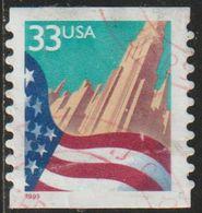 USA 1999 Scott 3280 Sello º Flag Over City Estados Unidos United States Yvert 2857 Michel 3090C Stamps Timbre États Unis - Vereinigte Staaten