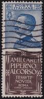 Italia Regno Pubblicitari 191 € 1924-25 - 25 C. Piperno N. 6. Cat. € 1800. Cert. E. Diena. SPL - 1900-44 Vittorio Emanuele III