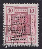 Austria, 1899 - 10h Perfin - Nr.94 Usato° 0,50 - Gebraucht
