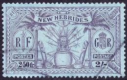 NEW HEBRIDES 1925 2/- (2.50f) Purple/Blue SG50 FU - Used Stamps