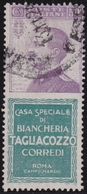 Italia Regno Pubblicitari 194 € 1924-25 50 C. Tagliacozzo N.17. Cat. € 1200,00. Cert. E. Diena. SPL - 1900-44 Vittorio Emanuele III