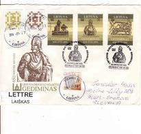 Lithuania FDC 28. 9. 1991, Lietuvos Didysis Kunigaikstis,  Gediminas, Used - Lithuania