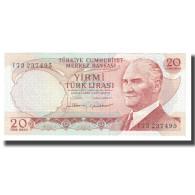 Billet, Turquie, 20 Lira, 1970, 1970-10-14, KM:181b, NEUF - Turkey