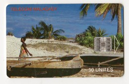 MADAGASCAR Ref MV Cards MDG-41 50U BEACH BELO SUR MER - Madagaskar
