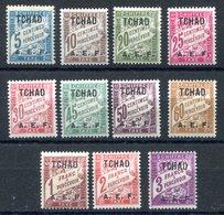 RC 17631 TCHAD COTE 23,50€ N° 1 / 11 SÉRIE TAXE NEUF * MH TB - Chad (1922-1936)