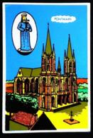 BASILIQUE De PONTMAIN (France 53) - Carte En Velours Feutrine Sérigraphie FLUO - Cartes Postales