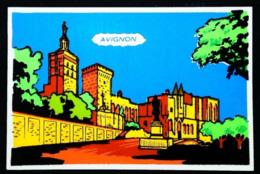 AVIGNON Cité Des Papes (France 84) - Carte En Velours Feutrine Sérigraphie FLUO - Cartes Postales