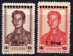 North Vietnam Viet Nam Indochine MNH Surcharged Overprint Stamps 1946 : Sihanouk King - Vietnam