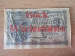 """Banque Nationale De Belgique - Billet 1 Franc 10-12-1920 - Série G06 - Sous Plastique """"BOCK WIELEMANS"""" - [ 2] 1831-...: Belg. Königreich"""