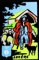 Berger De LOZERE  - Carte En Velours Feutrine Sérigraphie FLUO - Cartes Postales