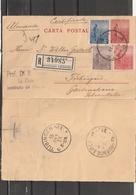 Argentina La Plata POSTAL CARD REGISTERED To Tubingen Germany 1913 - Argentinië