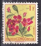 Congo Belga, 1952/53 - 1fr Hibiscus - Nr.271 Usato° - Congo Belge