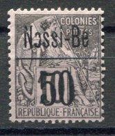 RC 17637 NOSSI-BÉ COTE 185€ N° 20a ALPHÉ DUBOIS SURCHARGÉ VARIÉTÉ O DE NOSSI-BÉ BRISÉ NEUF (*) - Unused Stamps