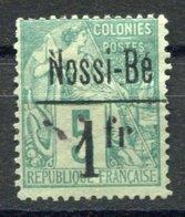 RC 17638 NOSSI-BÉ COTE 150€ N° 22 ALPHÉ DUBOIS SURCHARGÉ VARIÉTÉ N DE NOSSI-BÉ BRISÉ NEUF (*) ( VOIR DESCRIPTION ) - Unused Stamps