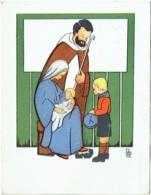 Illustrateur : Ode. Scout. Vierge Et Enfant. - Andere Zeichner