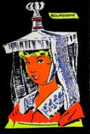 FEMME De Bourgogne - Carte En Velours Feutrine Sérigraphie FLUO - Cartes Postales