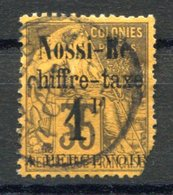 RC 17644 NOSSI-BÉ COTE 340€ TAXE N° 6 ALPHÉ DUBOIS SURCHARGÉ TIRAGE 700ex OBLITÉRÉ DÉFECTUEUX - Nossi-Be (1889-1901)