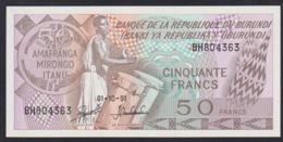 Ref. 3604-4041 - BIN BURUNDI . 1991. BURUNDI 50 FRANCS 1991 - Burundi