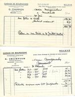 3 Factures 1935-40-42 Et 2 Traites 1935 / 21 BEAUNE / Garage CHAMPION - Cars