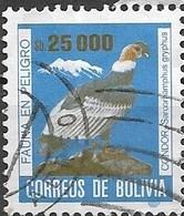 BOLIVIA 1985 Endangered Animals - 25000p. Andean Condor FU - Bolivie
