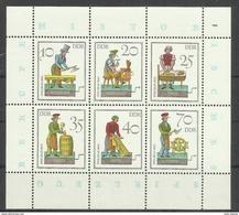 """DDR 2758-2763 Kleinbogen.""""Historisches Spielzeug (III)-Handwerker"""" Postfrisch Mi.-Preis 4,40 - [6] Oost-Duitsland"""