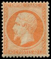 * FRANCE - Poste - 23, Signé Roumet: 40c. Orange - 1862 Napoleon III