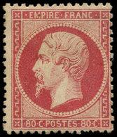 * FRANCE - Poste - 24, Signé Brun Et Calves: 80c. Rose - 1862 Napoleon III