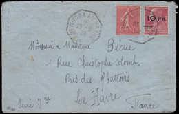 LET FRANCE - Poste Aérienne - 3, Sur Enveloppe Du 23/8/28 Pour Le Havre, Signé Calves, Certificat JF. Brun: 10f./90c. Be - Poste Aérienne