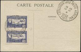 LET FRANCE - Poste Aérienne - 6c, Paire Verticale Sur Cp Officielle, Cachet Spécial 18/11/30: EIPA 30 Bleu - Poste Aérienne