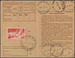 LET FRANCE - Poste Aérienne - 19, Sur Carte D'abonnement 1/10/48: 200f. Apollon - Poste Aérienne