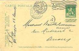 E.P. - Pk. 5 Cent. Pellens - Afgest./obl. Bruxelles 1. 6/07/1914 >> Anvers 1. - Ganzsachen