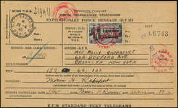 LET FRANCE - Libération (N° Et Cote Mayer) - Armée USA En France: 25f. Chenonceau Sur Formule Télégraphique, Feuille Com - Liberation