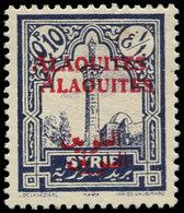 * ALAOUITES - Poste - 22a, Double Surcharge: 0.10 Violet - Unclassified