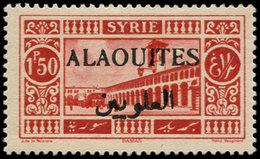 * ALAOUITES - Poste - 28a, Surcharge Noire: 1p. Rouge - Unclassified