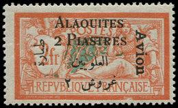 """* ALAOUITES - Poste Aérienne - 4b, Erreur """"2 Piastres"""" - Unclassified"""